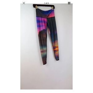 Teeki clouds sunset leggings pants